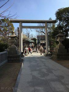 松戸神社の鳥居