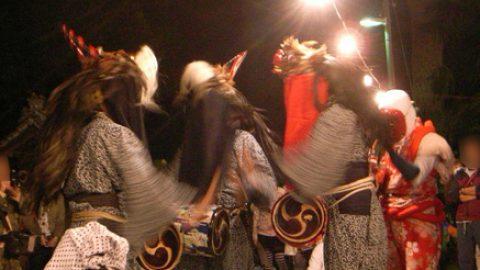 松戸市無形文化財「大橋の三匹獅子舞」